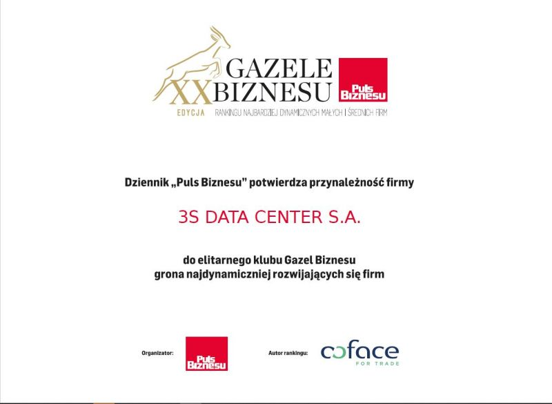 Gazele biznesu 3S Data Center 2019
