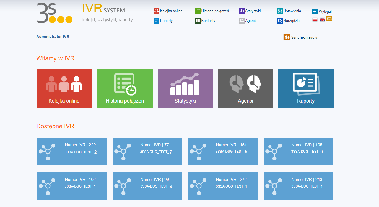 IVR System strona główna