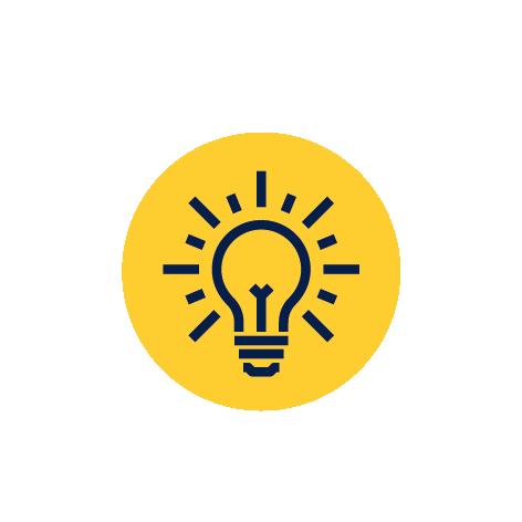Idea żarówka rozwiązanie ikona