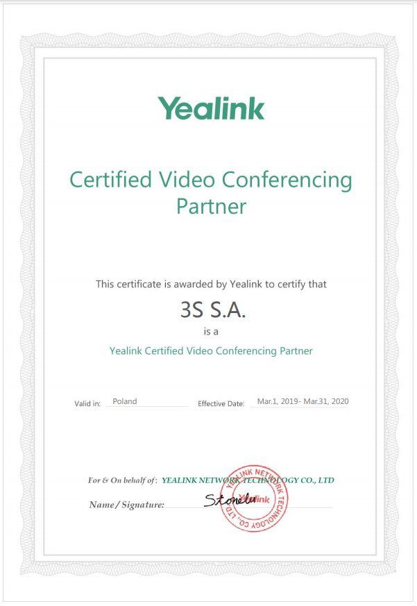 Yealink certified video conferencing partner