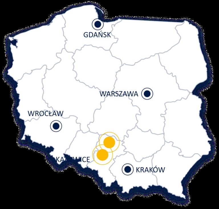 mapa oddziałów 3S w Polsce