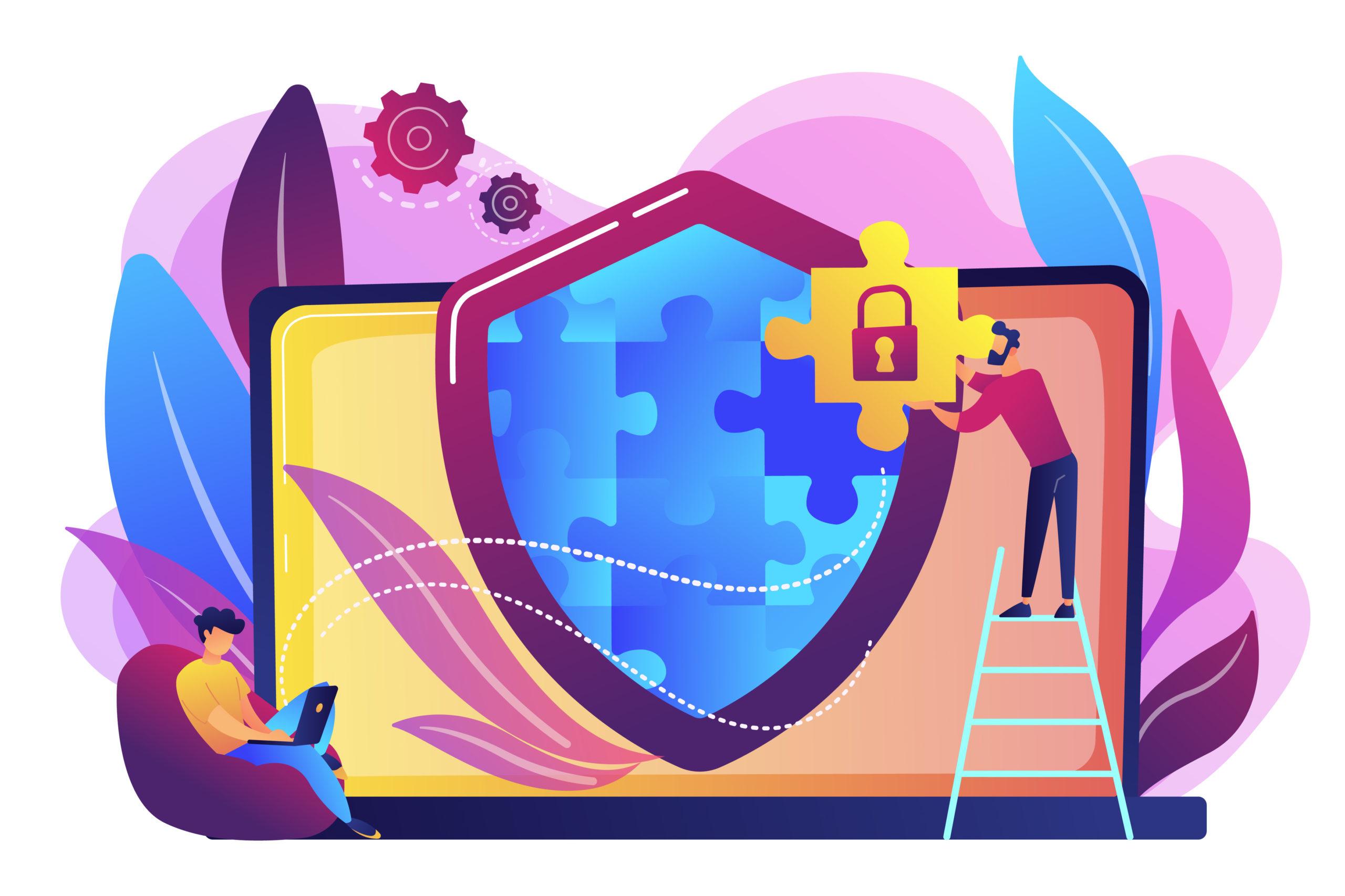 Firewall concept vector illustration.