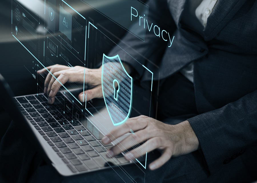 Data privacy with technology concept