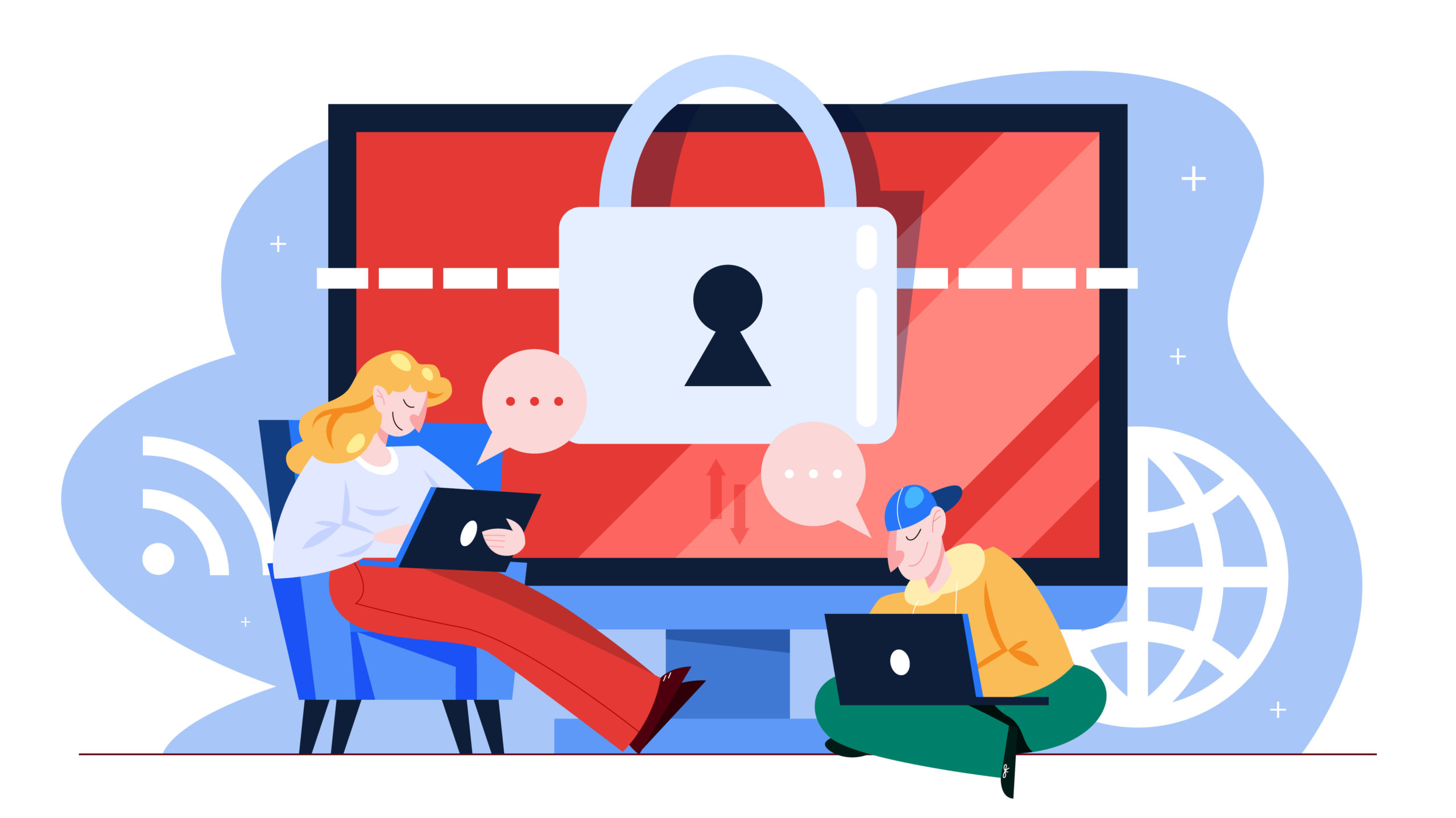 sieć internet firma alarm wykrywanie zagrożeń użytkownicy bezpieczeństwo danych