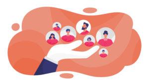 Human resources concept. Idea of a recruitment