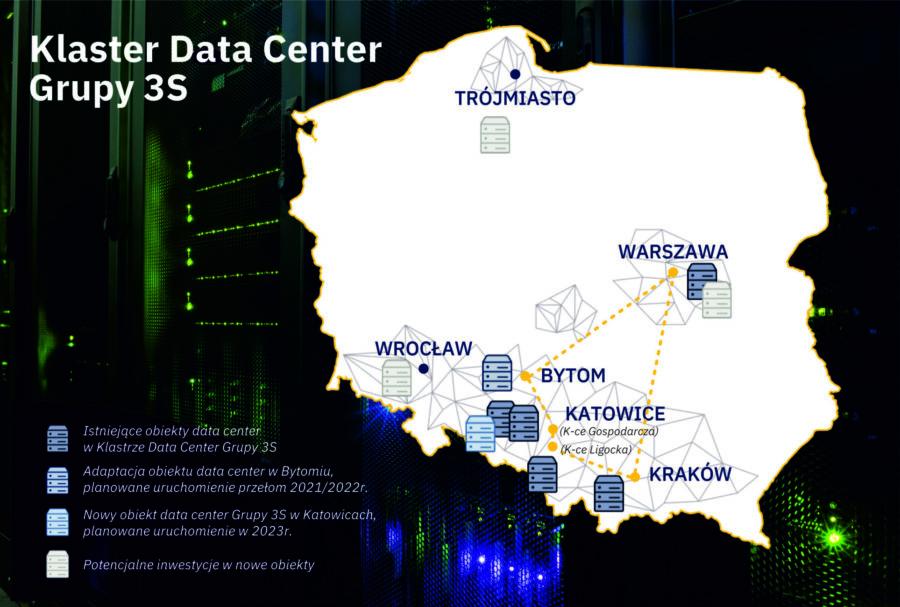 Mapa klastra Data Center