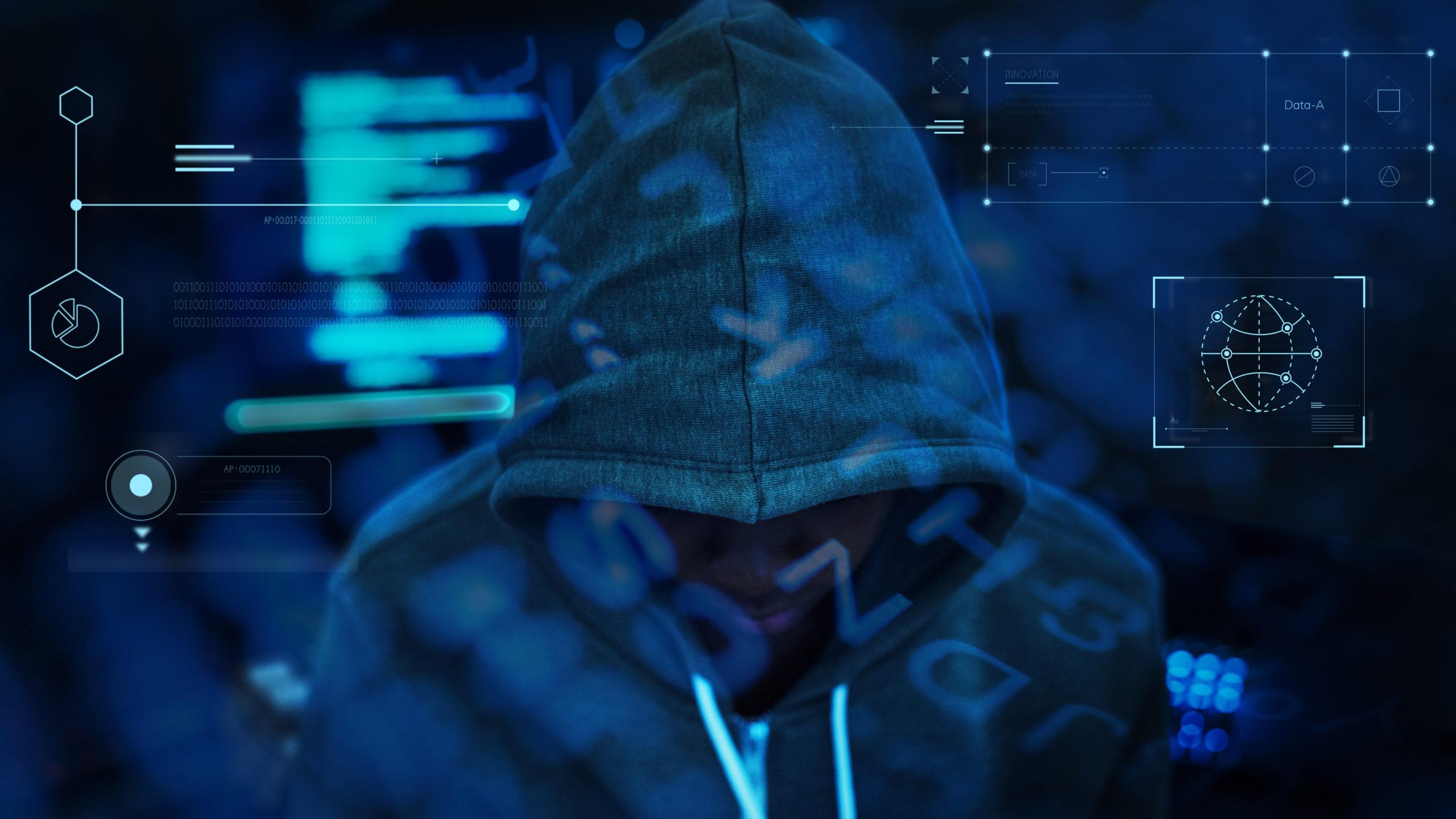 haker w kapturze